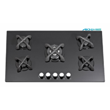 8mm Tempered Glass With 5 Burners Cooktop
