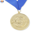 Gold and bronze award medallion produce as requirements