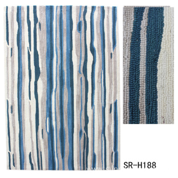 Dyeable Polyester Hand Hooked Carpet