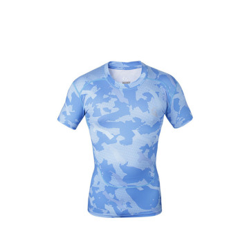 UV Protection Swimming Rash Guard Printed Surf Rash Guard