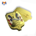 Gold plating enamel lapel pin custom