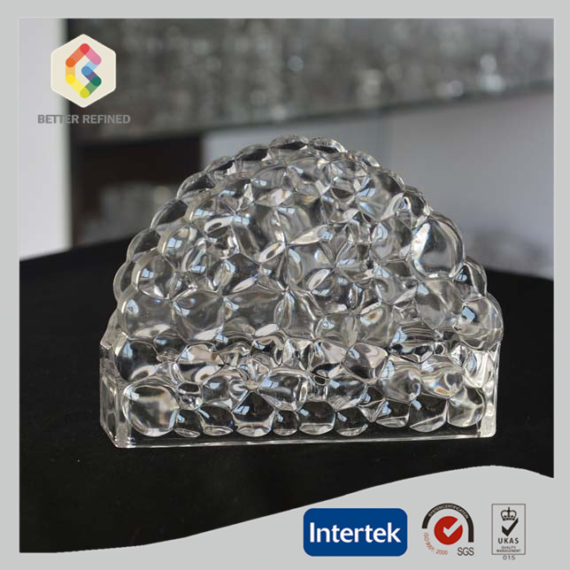Crystal Glass Napkin Holder