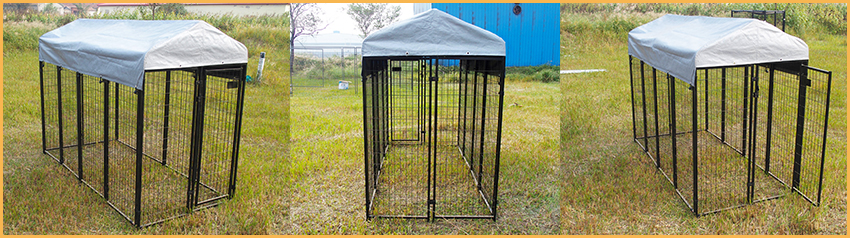 square tube pet dog kennel