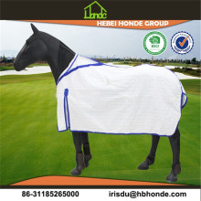 OEM manufacturer custom for Stripe Fleece Horse Blanket White Polycotton Horse Rug Australia export to Malaysia Factory