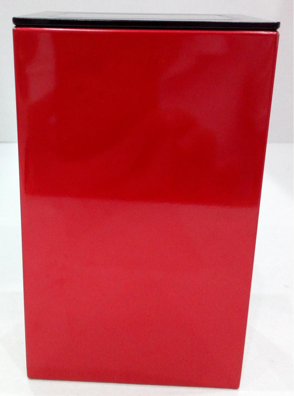 Square Red Color Coffee Tin Box