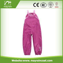 Kids rain overalls water repellent safety pants trousers