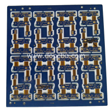 Blue Solder Mask 4layers Rigid Flex Circuit Board