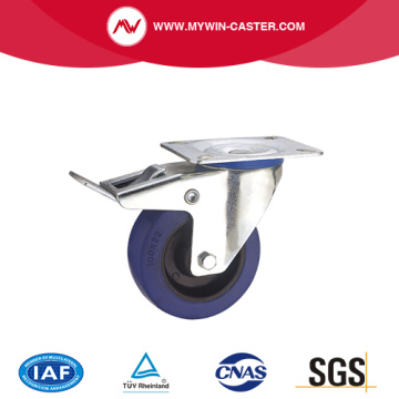 Brake Rubber Wheel Europe Type Industrial Caster