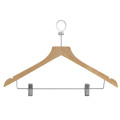 Wooden Hotel Coat Pants Solid Wood clip hanger