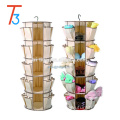 5 Shelf As Seen On TV Shoes Hanging Organizer Smart Carousel Organizer