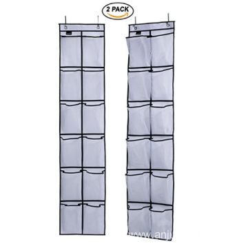 12 Large Mesh Pockets Hanging Narrow Closet Door Over The Door Shoe Organizer
