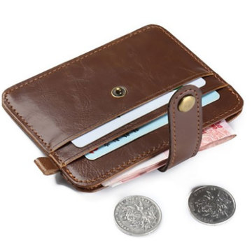 Fashion Waterproof Leather Card Wallet Coin Purse