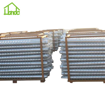 Hot dipped galvanized ground screws for pv installation