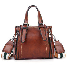 Fashion Brown Color PU Leather Lady Bag