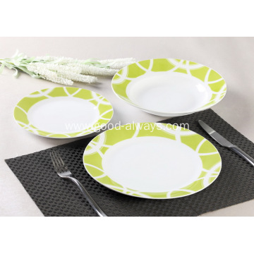 18 Piece Decal Porcelain Dinner Set