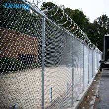 High Permance for Playground Chain Link Wire Mesh Factory Supply Wholesale 8 Foot Chain Link Fence supply to Liberia Manufacturers