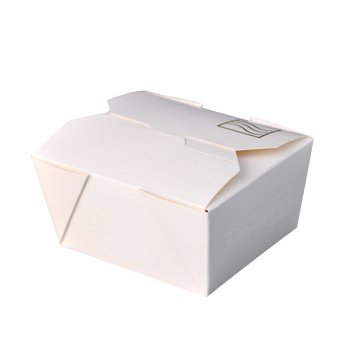 Fast Food White Cardboard Take Away Paper Boxes