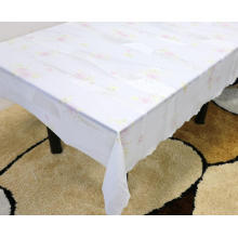 elastic Printed pvc lace tablecloth by roll