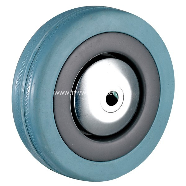 4'' Plate Swivel Grey Rubber Caster