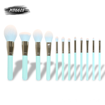 Customize Luxury Makeup Brushes Private Label Green
