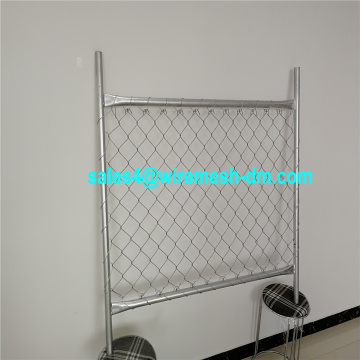 Galvanized chain link temporary fence for Canada