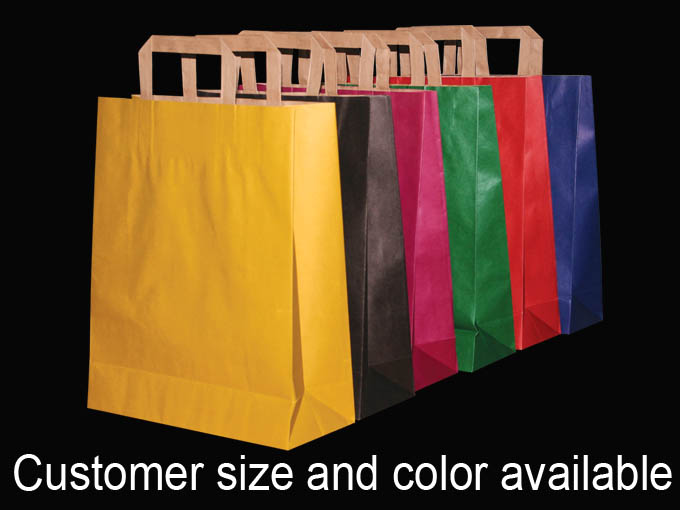 Colour Paper Shopping Bags Bulk
