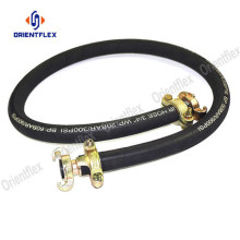 Black robust wrapped compressed air hose