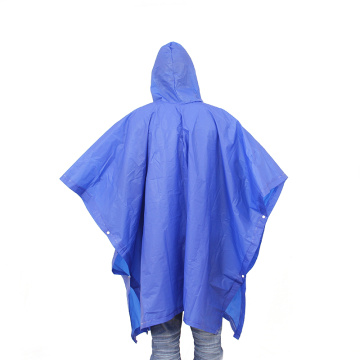 eco-friendly pvc reusable rain poncho with customized logo
