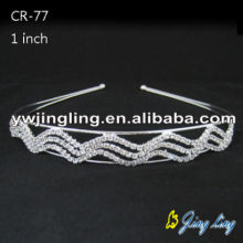 Silver Plated Wedding Crystal Hairband