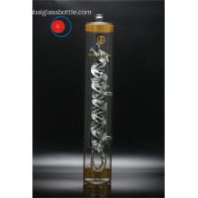 Best quality and factory for Crystal Glass Bottle Long Shape Tiny Mouth Dragon Glass Craft supply to Italy Exporter