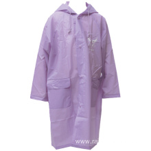 OEM manufacturer custom for Transparent EVA Raincoat Women Summer Long EVA Rain Coat export to Belgium Importers