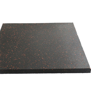 Rubber floor for fitness room floor