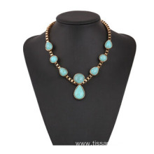 Customized for New style necklaces New Fashion Women Blue Turquoise Necklace export to Lebanon Factory