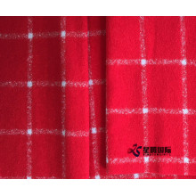 Red Check 80% Wool 20% Nylon Fabric