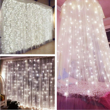 Garden LED Starry Fairy Curtain String Lights