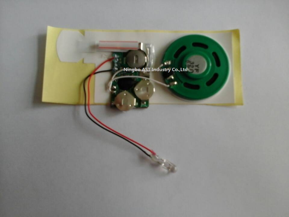 Greeting Cards Sound Module with LED, LED Sound Module, Voice Recording