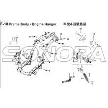 F-18 Frame Body Engine Hanger for XS125T-16A Fiddle III Spare Part Top Quality