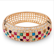 Top for JingLing New Style Bracelets Cheaper Lady Jewelry Rhinestone And Copper Materials Fashion Women Bracelets Silver And Gold Jingling Top quality Gold plated simple bling bracelets export to Turks and Caicos Islands Factory