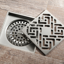 Leading for Full Brass Floor Drain HIDEEP Bathroom Chrome Plating Brushed Floor Drain export to Poland Exporter