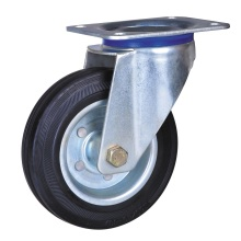 Top for 5'' Wheel Plate Caster 5'' industrial caster with rubber wheels supply to India Supplier