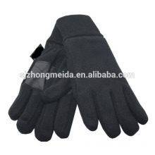 Red polyester embroidery Fleece Gloves