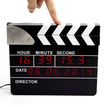 The Big Movie Clapper Alarm Desk Clock