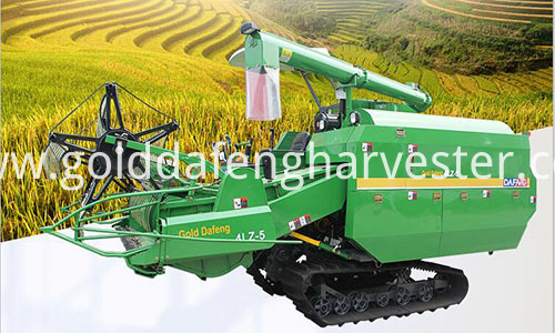 Self-propelled Full Feed Rice Combine Harvester