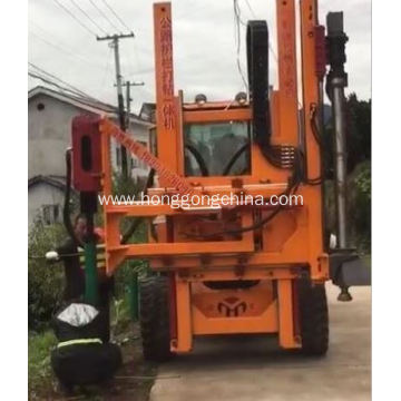 Factory Price for Guardrail Driver Extracting Machine Highway Repair Tool Guardrail Pile Driver export to Tajikistan Exporter