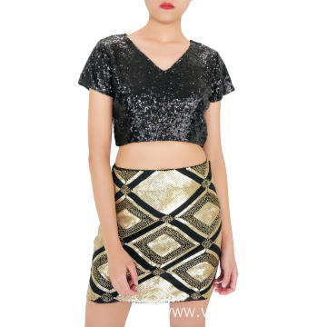 Sequin Modern Mini Skirts