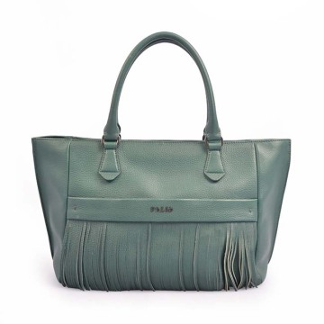 First Layer Cow Leather Handbags Women Tassel Bag