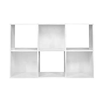 White Cubeicals Organizer 6 Cube Wall Shelf Floating Shelf Corner Wall Mount Shelf