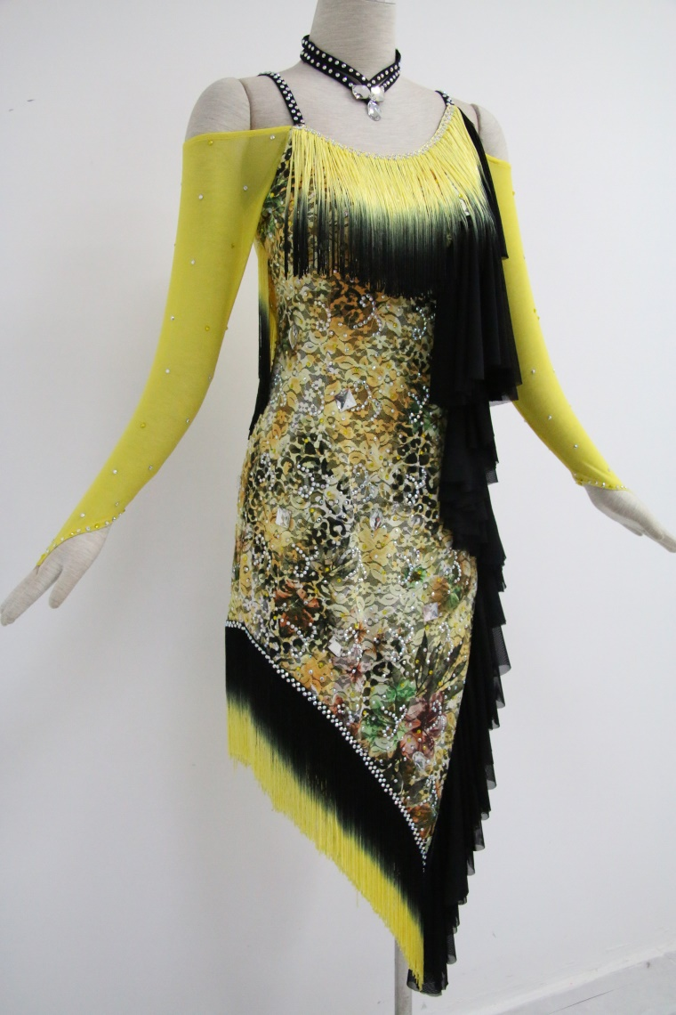 Yellow Dance Costumes For Competition