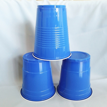 Disposable Blue White PP Plastic Party Cup 480ml