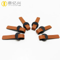 Eco-friendly genuine leather branded zipper puller